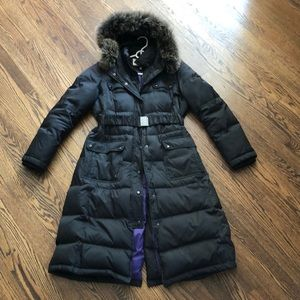 Black Puffer Coat w/ Purple Lining